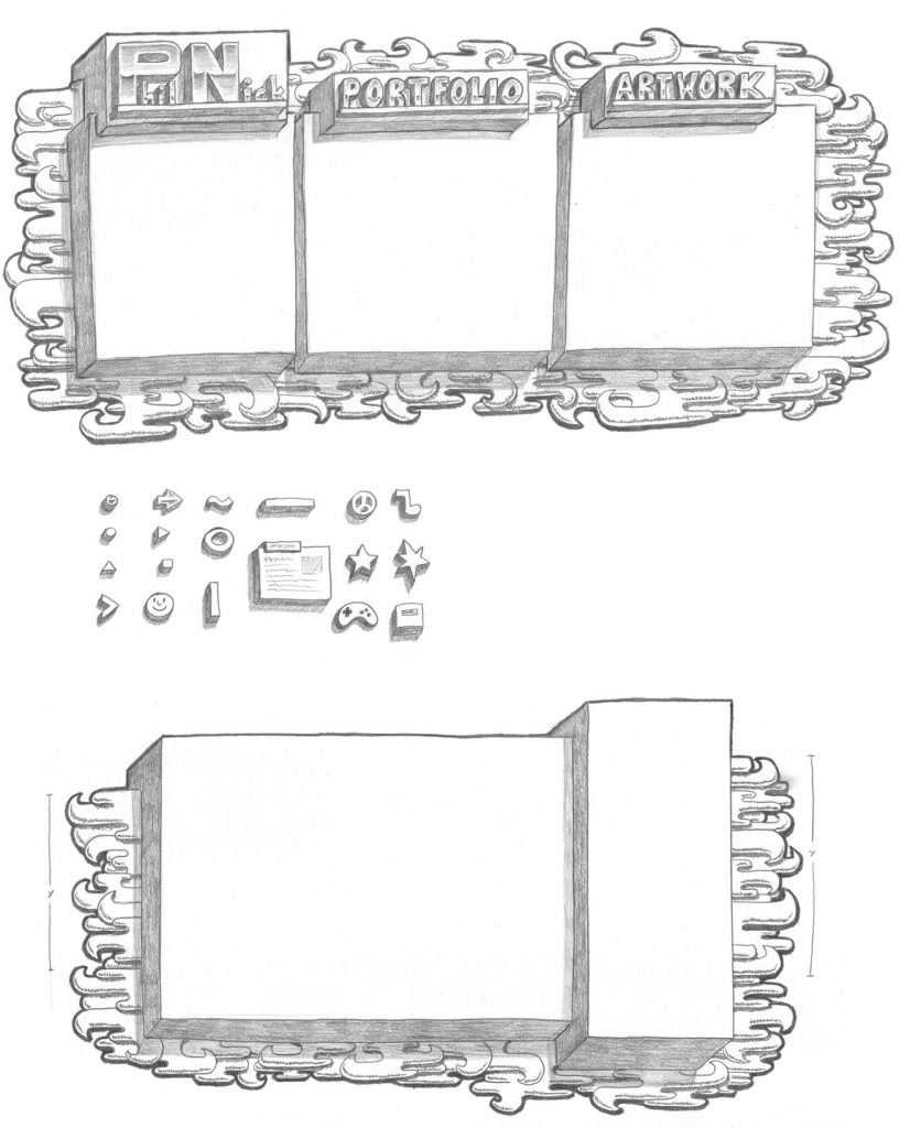 Scanned drawings for PhilNick.com